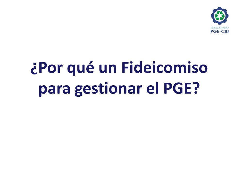 ¿Por qué un Fideicomiso para gestionar el PGE