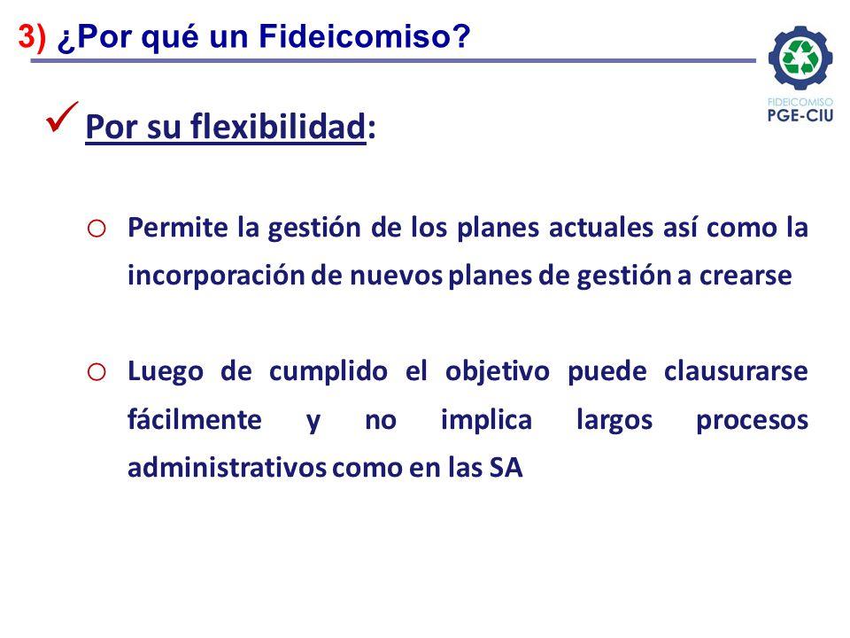 Por su flexibilidad: 3) ¿Por qué un Fideicomiso