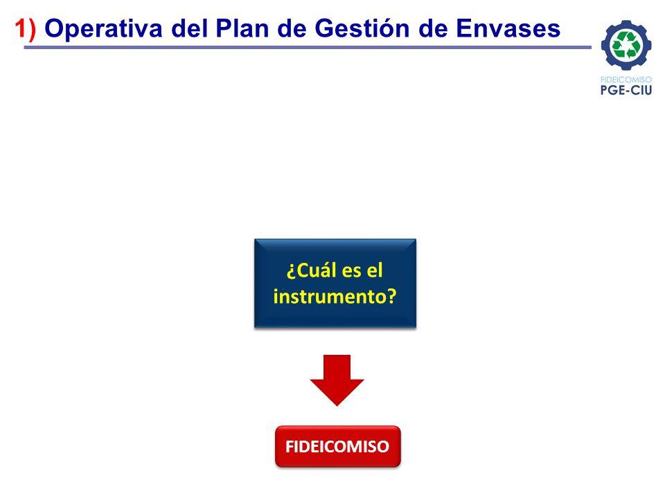 ¿Cuál es el instrumento Plan de Gestión de Envases
