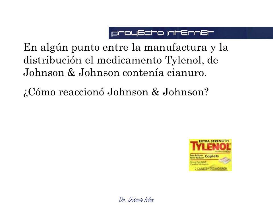 En algún punto entre la manufactura y la distribución el medicamento Tylenol, de Johnson & Johnson contenía cianuro.