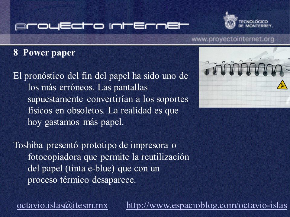 8 Power paper