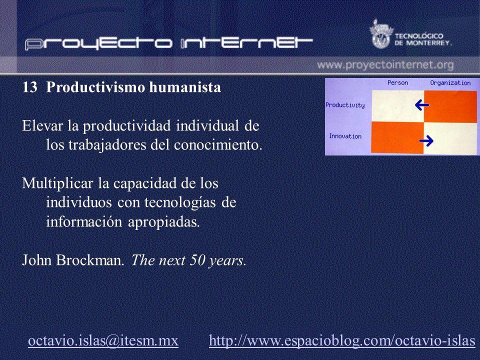 13 Productivismo humanista