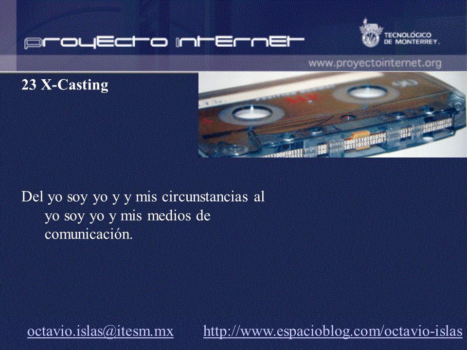 23 X-Casting Del yo soy yo y y mis circunstancias al yo soy yo y mis medios de comunicación.
