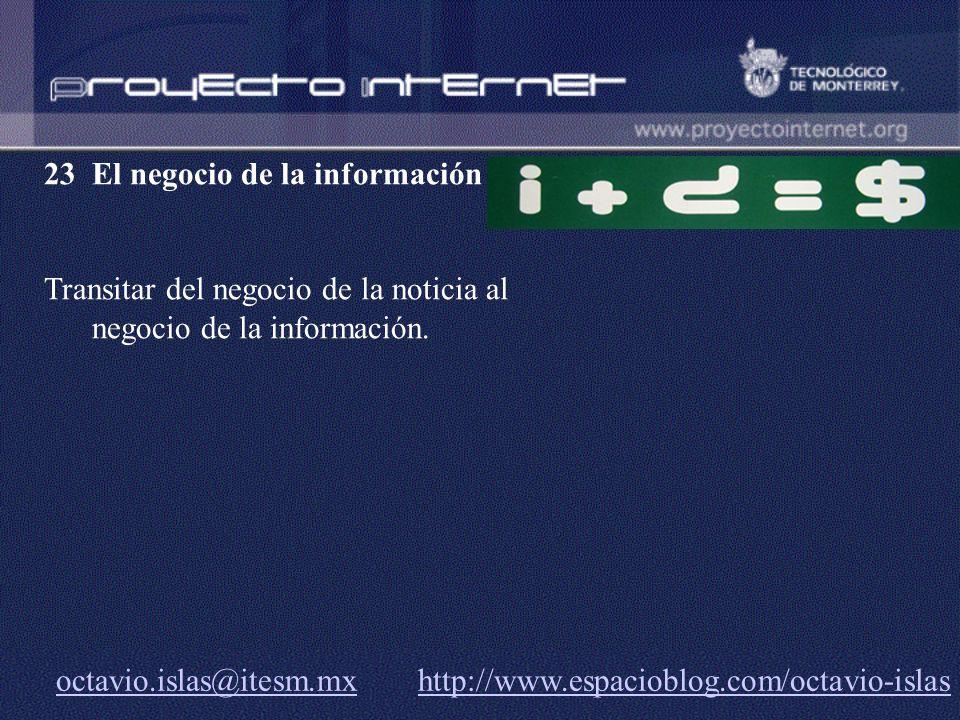 23 El negocio de la información