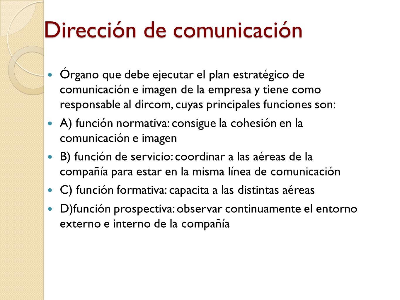 Dirección de comunicación