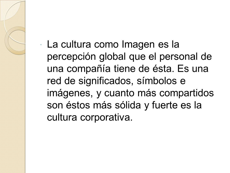 La cultura como Imagen es la percepción global que el personal de una compañía tiene de ésta.
