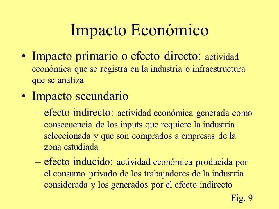 Impacto Económico Impacto primario o efecto directo: actividad económica que se registra en la industria o infraestructura que se analiza.