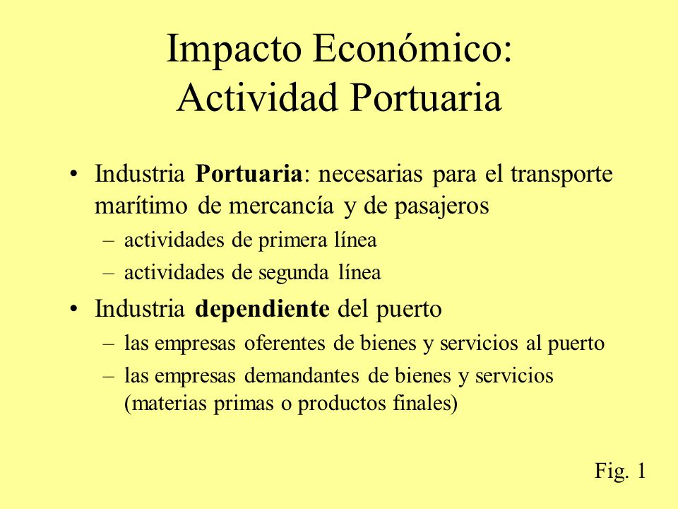 Impacto Económico: Actividad Portuaria