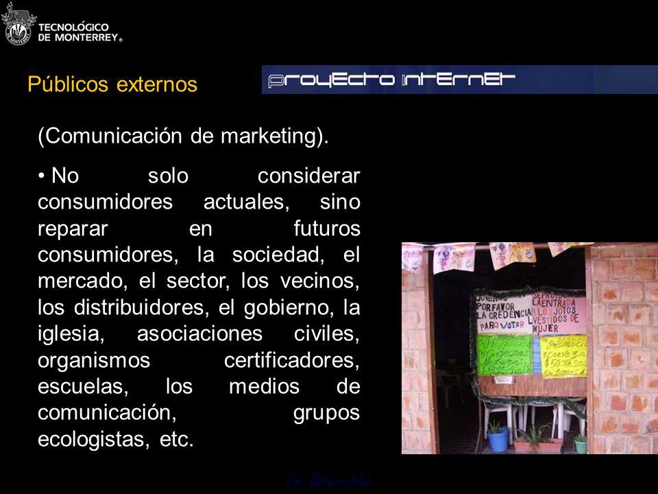 Públicos externos(Comunicación de marketing).
