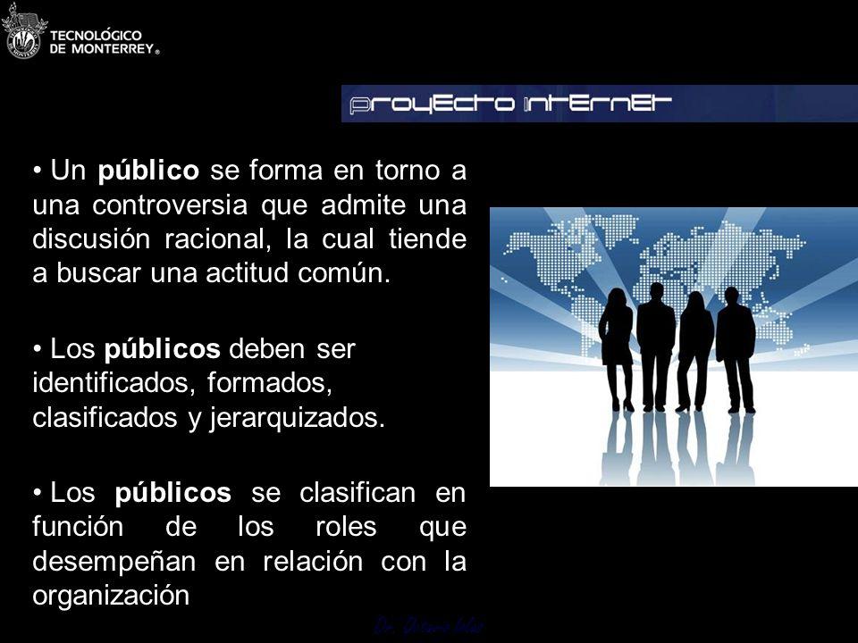 Un público se forma en torno a una controversia que admite una discusión racional, la cual tiende a buscar una actitud común.