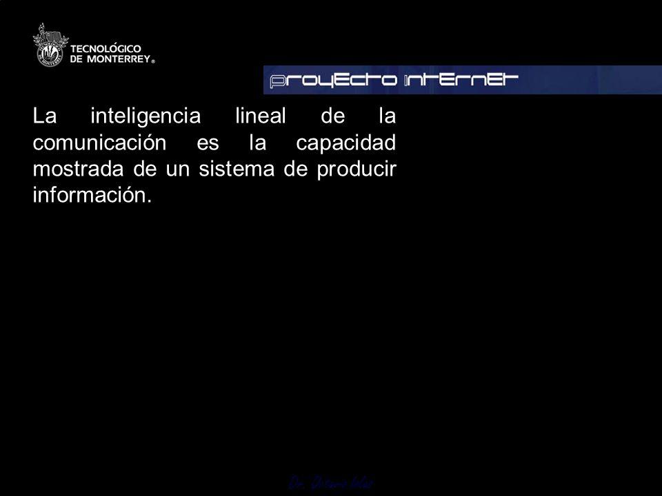 La inteligencia lineal de la comunicación es la capacidad mostrada de un sistema de producir información.