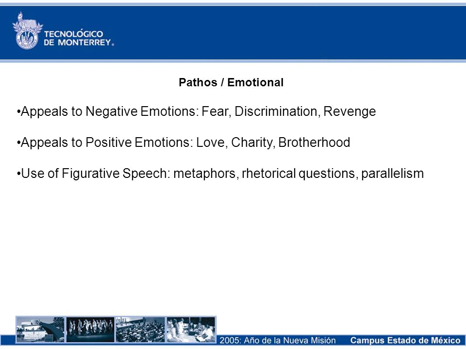 Appeals to Negative Emotions: Fear, Discrimination, Revenge