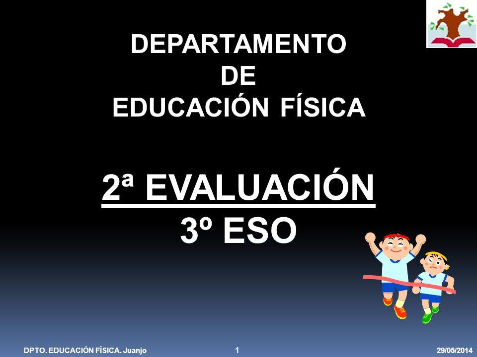 2ª EVALUACIÓN 3º ESO DEPARTAMENTO DE EDUCACIÓN FÍSICA