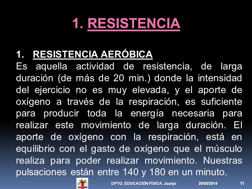 1. RESISTENCIA RESISTENCIA AERÓBICA