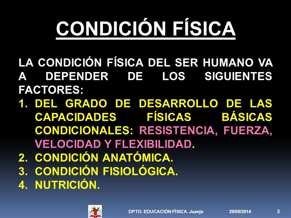 CONDICIÓN FÍSICA LA CONDICIÓN FÍSICA DEL SER HUMANO VA A DEPENDER DE LOS SIGUIENTES FACTORES: