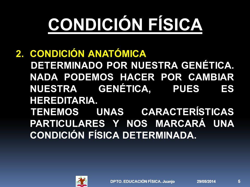 CONDICIÓN FÍSICA CONDICIÓN ANATÓMICA