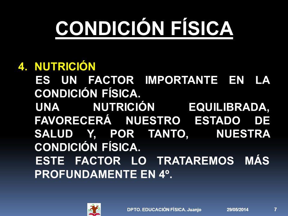 CONDICIÓN FÍSICA NUTRICIÓN