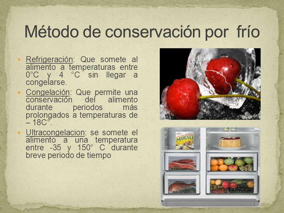 M todos de conservaci n para el manejo de alimentos en agroindustria ppt descargar - Alimentos frios ...
