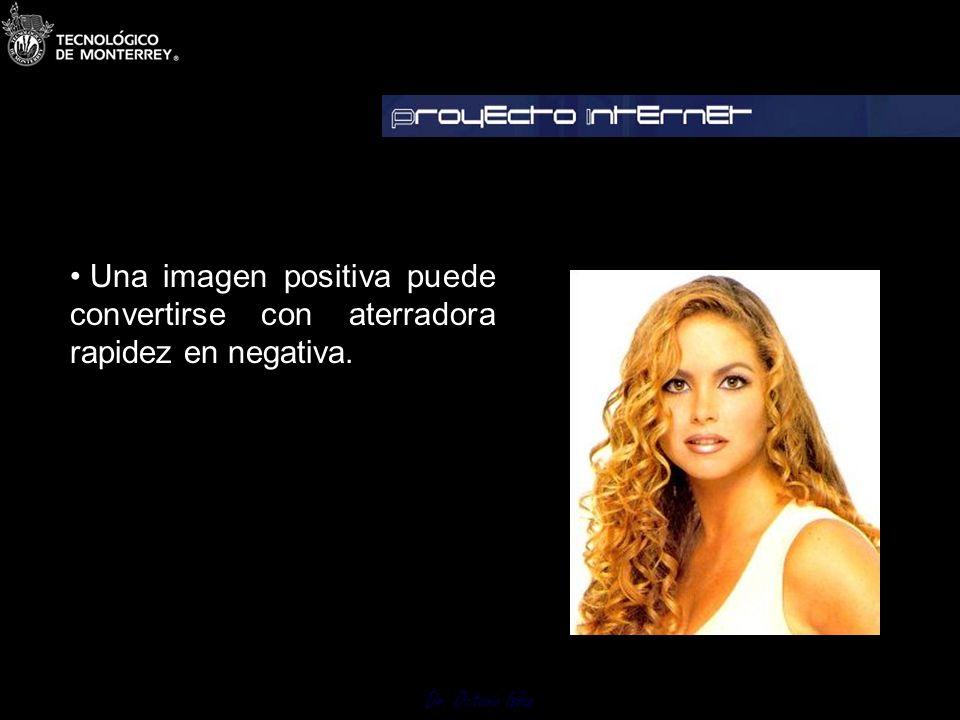 Una imagen positiva puede convertirse con aterradora rapidez en negativa.