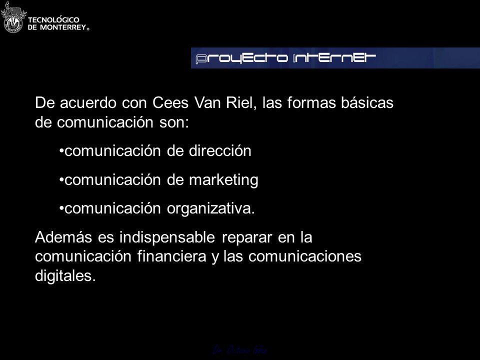 De acuerdo con Cees Van Riel, las formas básicas de comunicación son: