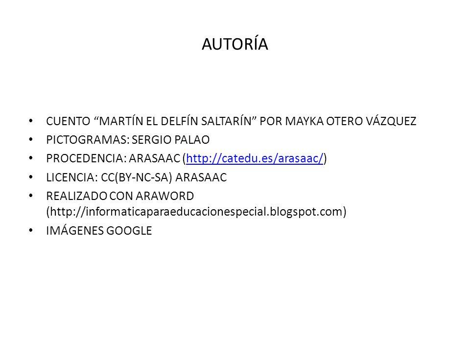 AUTORÍA CUENTO MARTÍN EL DELFÍN SALTARÍN POR MAYKA OTERO VÁZQUEZ