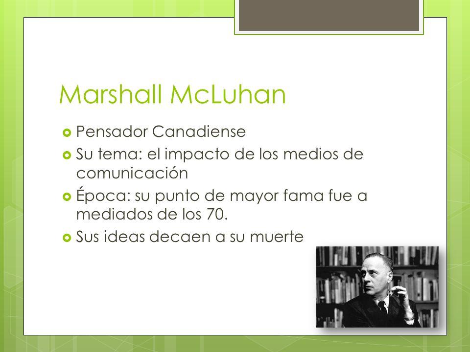 Marshall McLuhan Pensador Canadiense