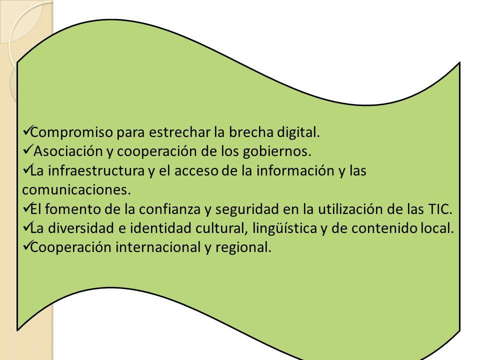 Compromiso para estrechar la brecha digital.