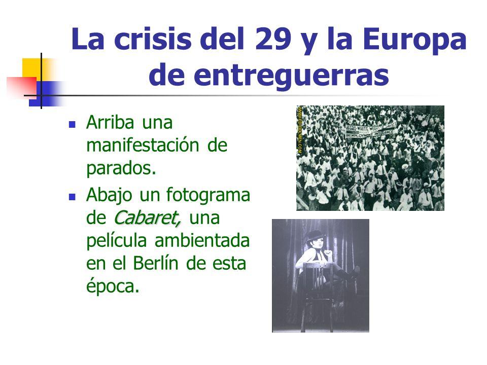 La crisis del 29 y la Europa de entreguerras
