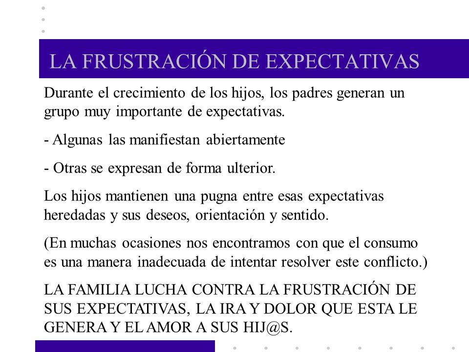 LA FRUSTRACIÓN DE EXPECTATIVAS