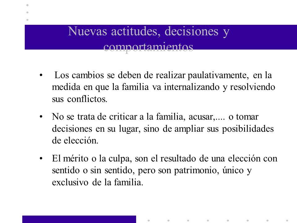 Nuevas actitudes, decisiones y comportamientos