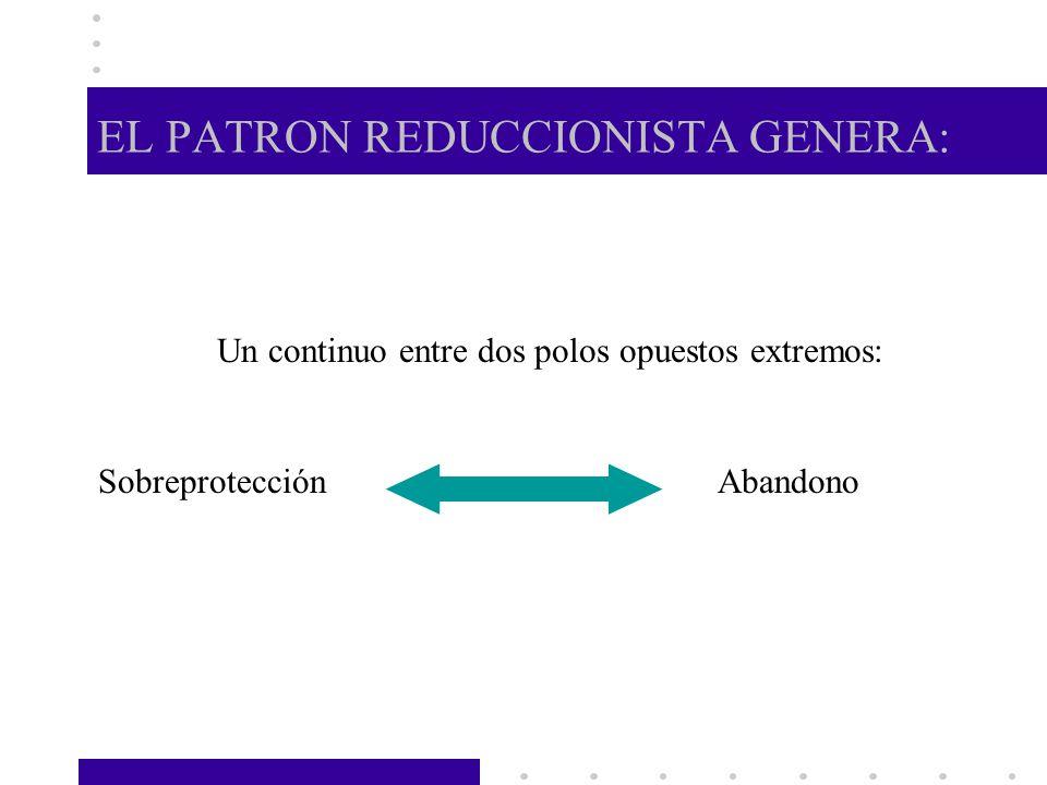 EL PATRON REDUCCIONISTA GENERA: