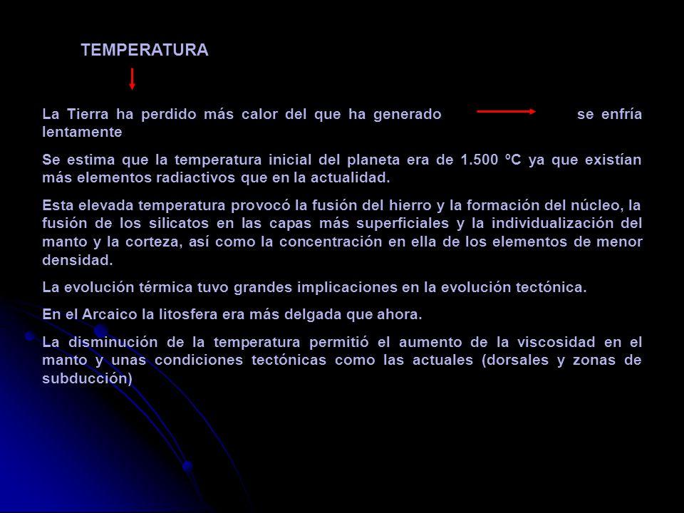TEMPERATURA La Tierra ha perdido más calor del que ha generado se enfría lentamente.