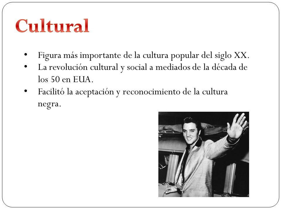 Cultural Figura más importante de la cultura popular del siglo XX.
