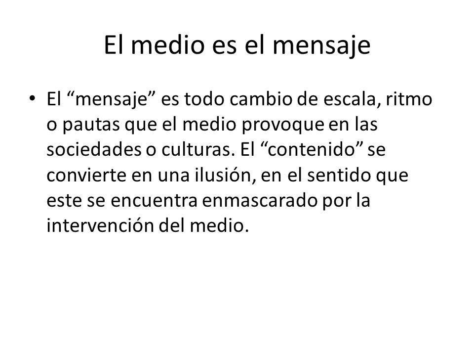 El medio es el mensaje