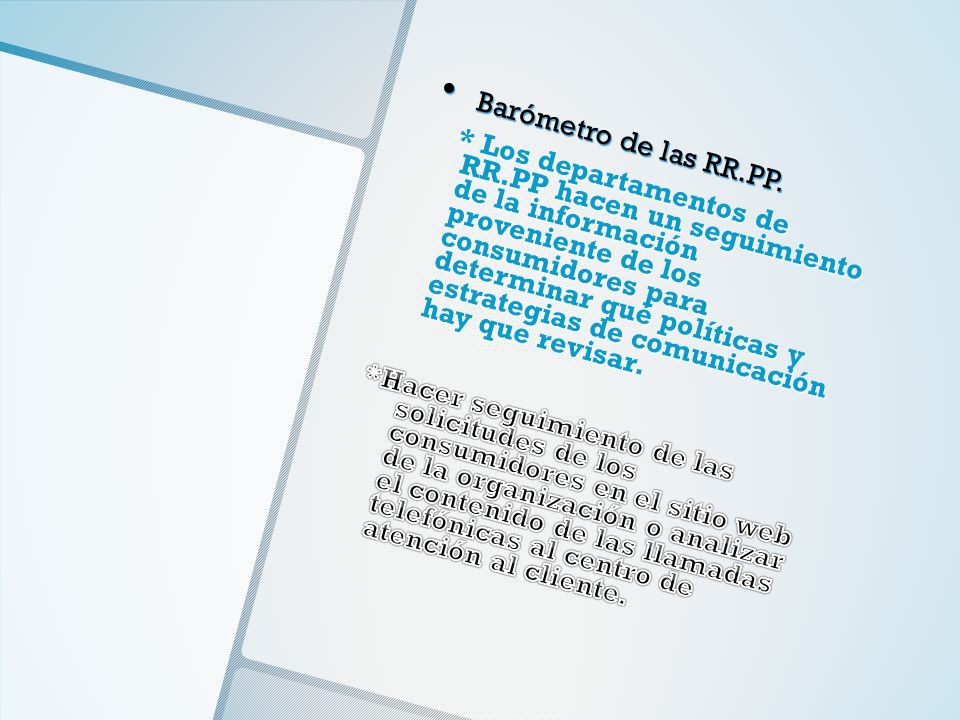 Barómetro de las RR.PP.