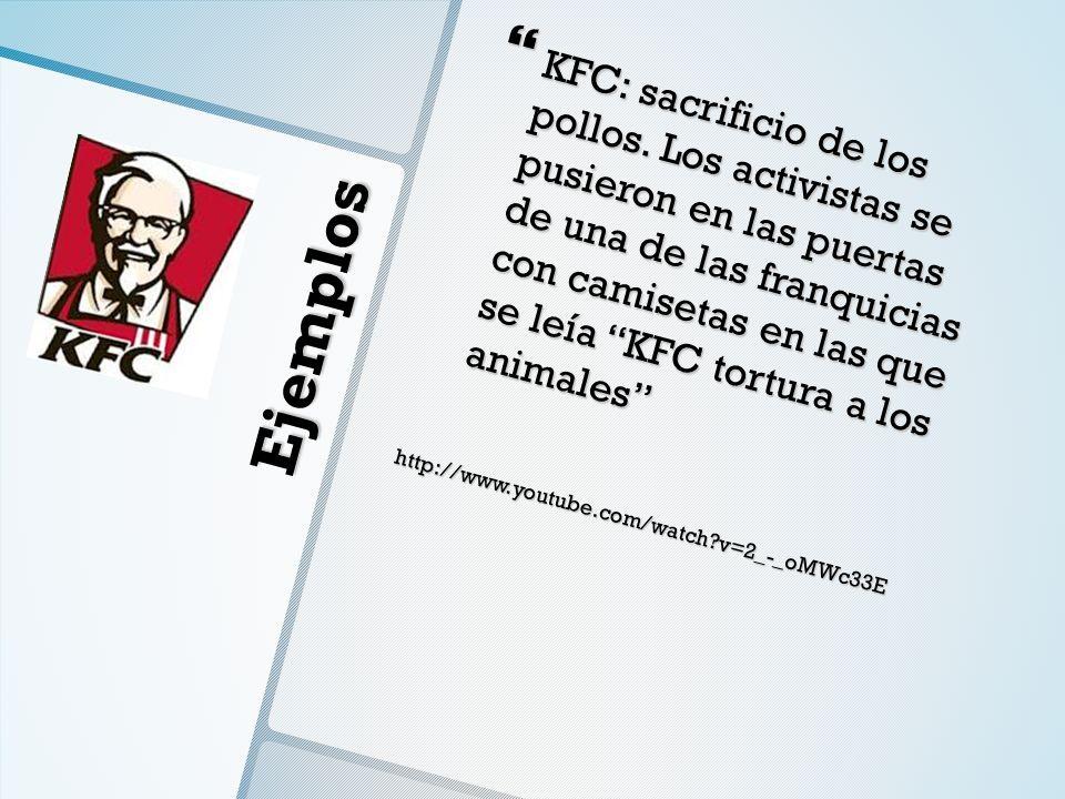 KFC: sacrificio de los pollos