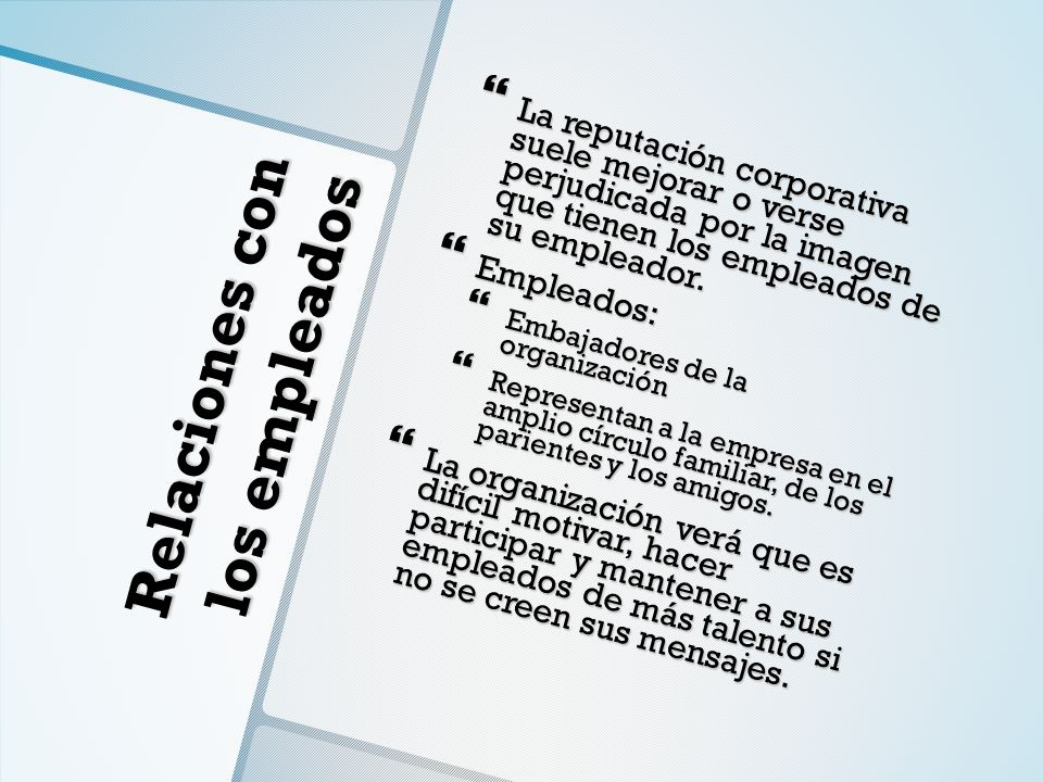 Relaciones con los empleados