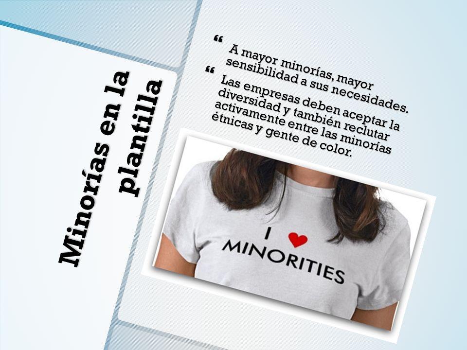 Minorías en la plantilla