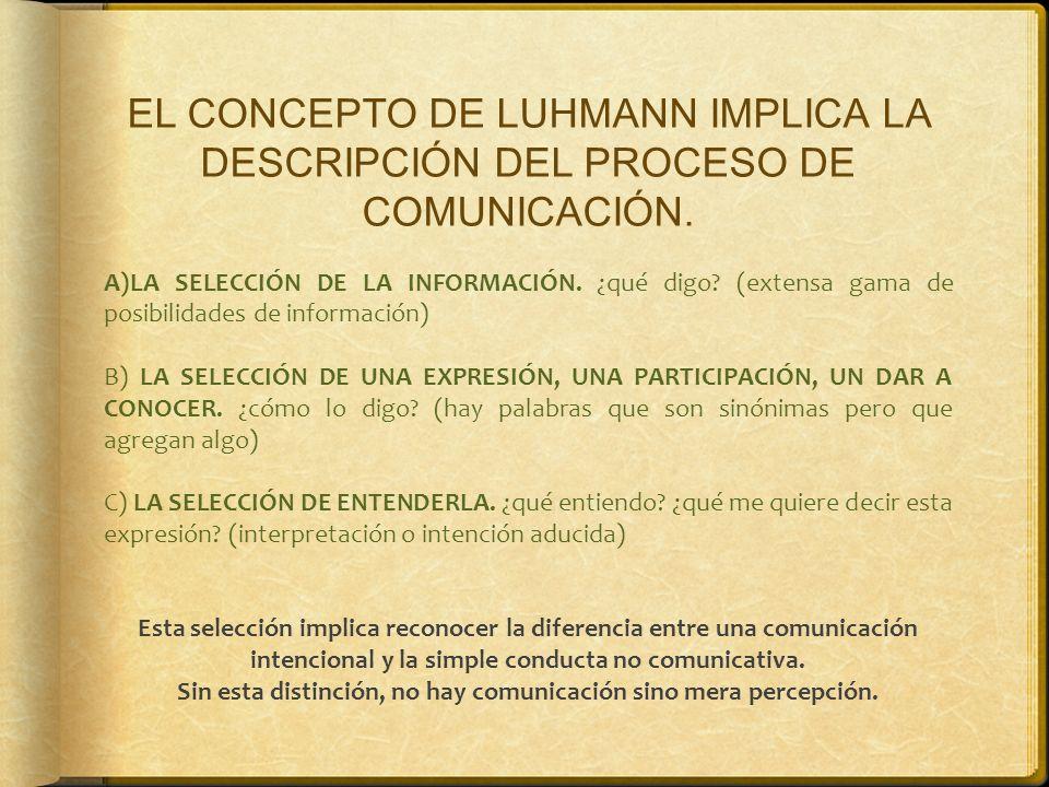 Sin esta distinción, no hay comunicación sino mera percepción.