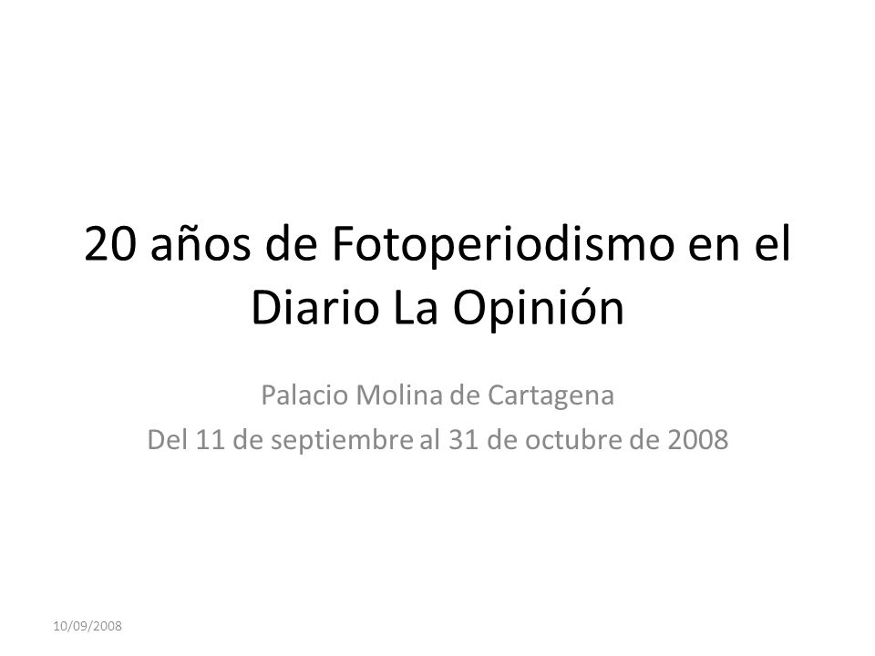 20 años de Fotoperiodismo en el Diario La Opinión