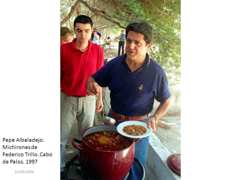 Pepe Albaladejo. Michirones de Federico Trillo. Cabo de Palos. 1997