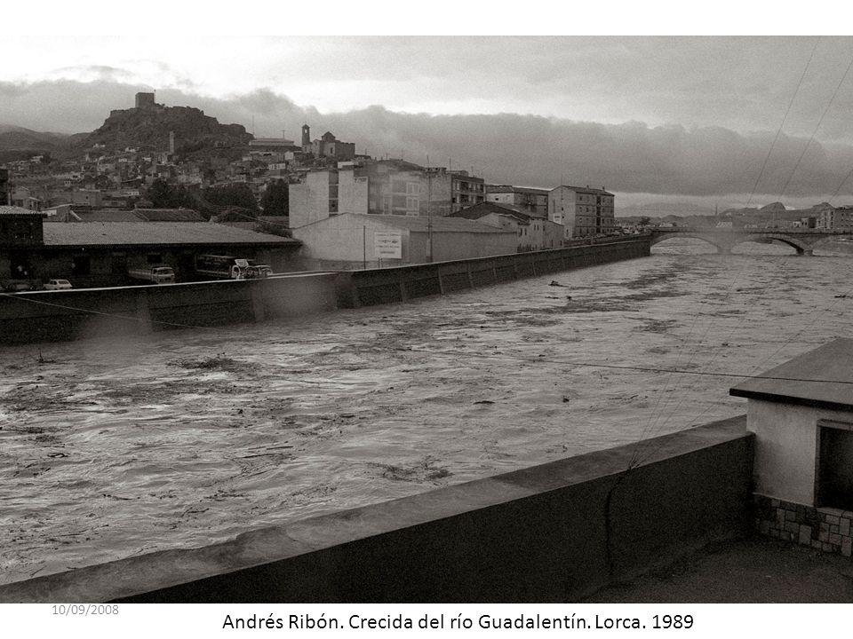 Andrés Ribón. Crecida del río Guadalentín. Lorca. 1989