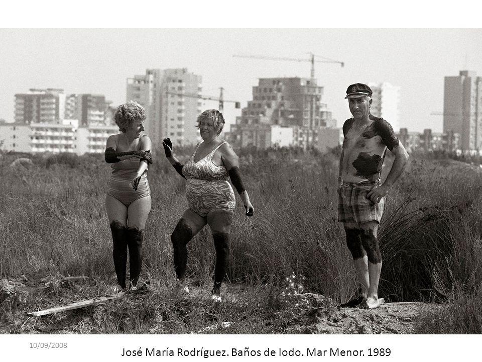 José María Rodríguez. Baños de lodo. Mar Menor. 1989