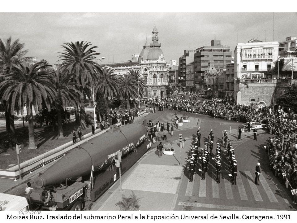 10/09/2008 Moisés Ruíz. Traslado del submarino Peral a la Exposición Universal de Sevilla.