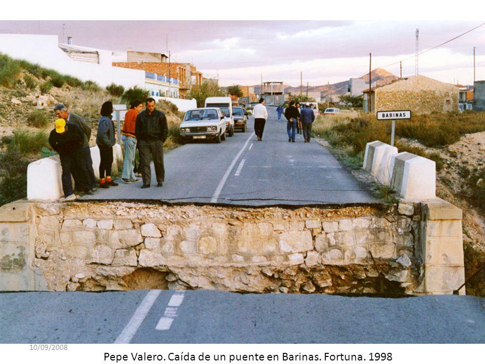 Pepe Valero. Caída de un puente en Barinas. Fortuna. 1998