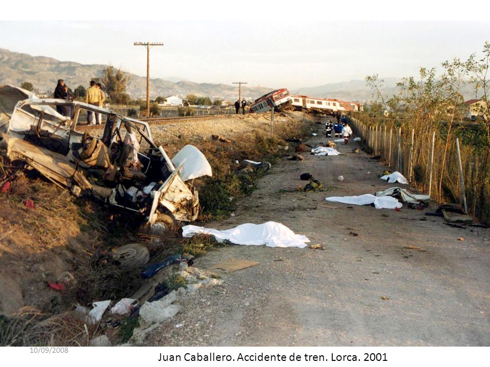 Juan Caballero. Accidente de tren. Lorca. 2001