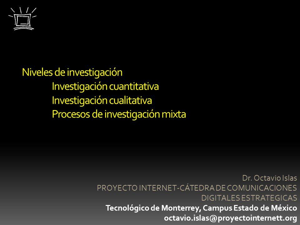 Niveles de investigación. Investigación cuantitativa