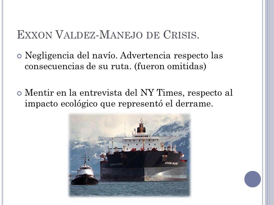Exxon Valdez-Manejo de Crisis.