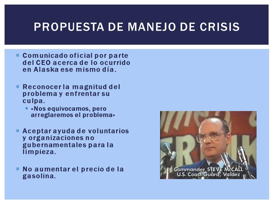 PROPUESTA DE MANEJO DE CRISIS