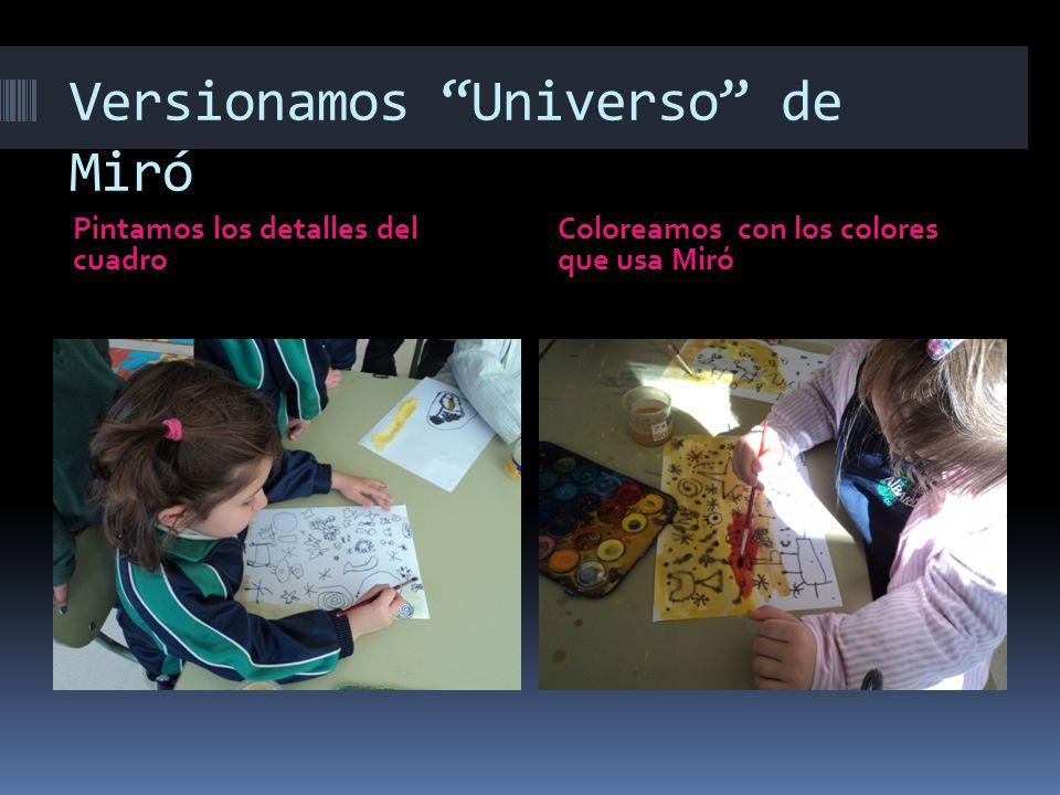 Versionamos Universo de Miró